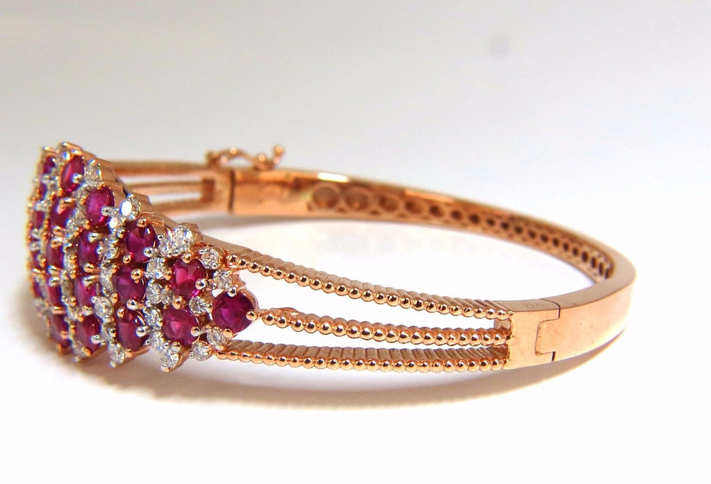 gem gold bracelet ruby white bangles carat bracelets bangle in