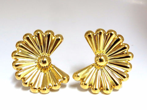 18kt 3D Hobo Chick Retro Clip earrings