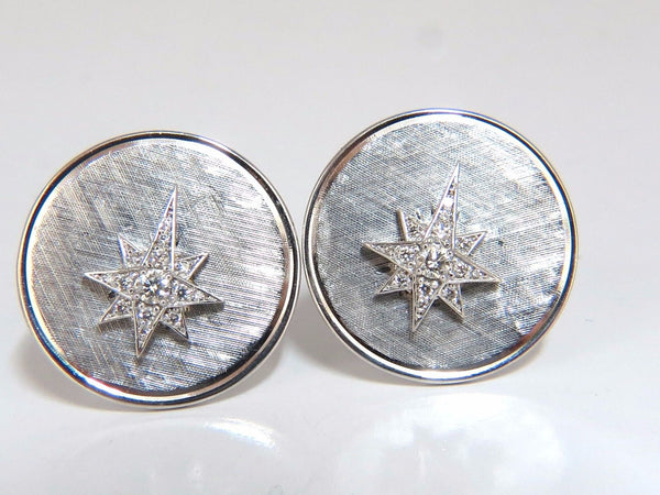 .50ct diamonds North Star Cufflinks 14kt.