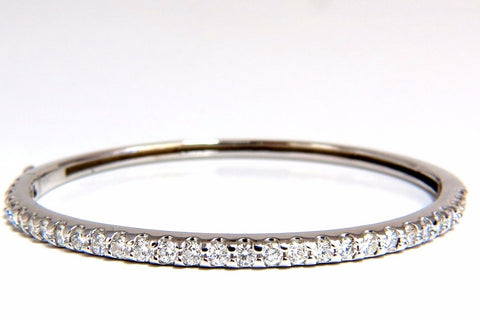 2.48ct natural round diamonds bangle bracelet g/vs common prong 14kt