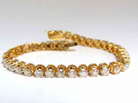 5.40ct natural diamond tennis bracelet / Victorian High Profile Petite 14kt