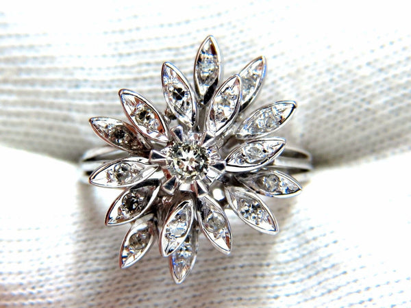 1.10ct Diamonds Profile Cluster Top 18kt ring Vintage Deco