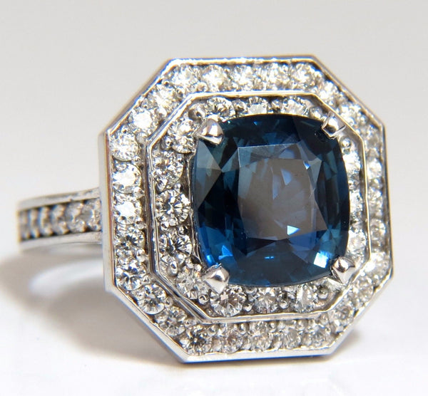 GIA Certified 4.07ct Natural No Heat Sapphire Diamond Ring Unheated