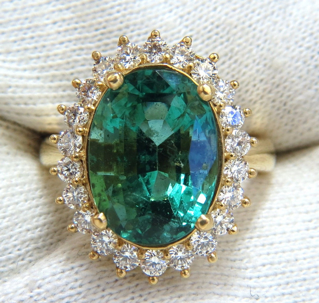 certified pave emerald w stone cut j ring engagement gia img