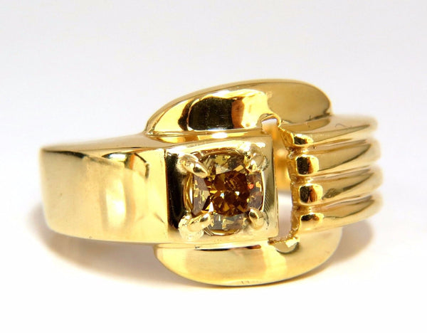 GIA Certified Natural Fancy color Diamond ring 14kt. Buckle Deco