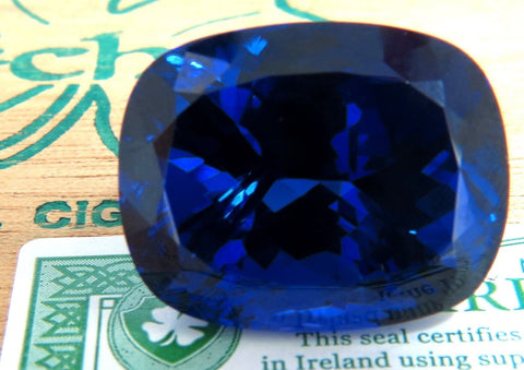 GIA Certified 58.21ct Natural Blue Cushion Cut Tanzanite Magnificent