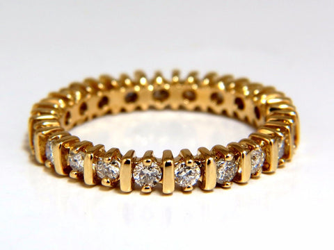 .80ct Natural Round Diamonds Eternity Ring 14kt