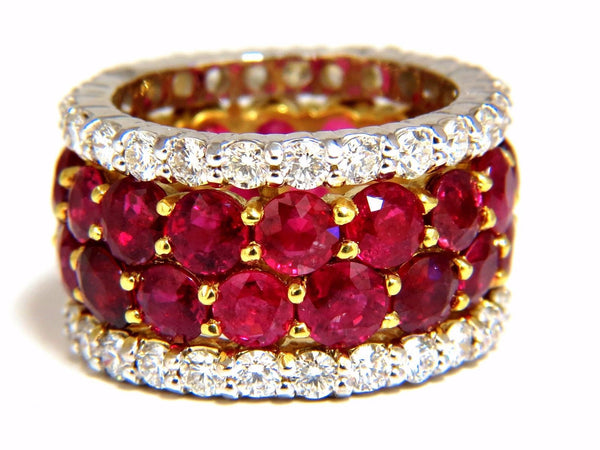 20.40ct Natural Ruby Diamonds eternity Ring 18kt Natural Vivid Reds