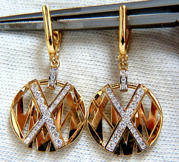 Cosmopolitan Mod X Diamond dangle earrings 14kt