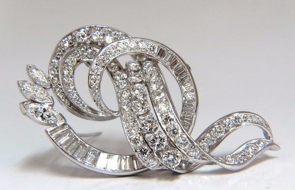 8.00ct diamonds platinum art deco brooch