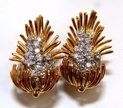 Kurt Wayne Cluster Earrings 18kt Platinum Omega