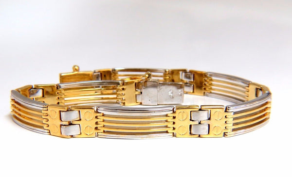 14kt. Grill & Screw Mens Bracelet
