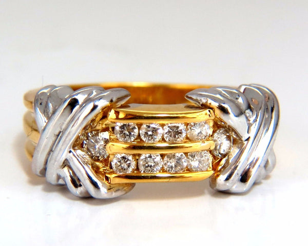 ".50ct ""X"" Channel Diamonds ring 14kt"