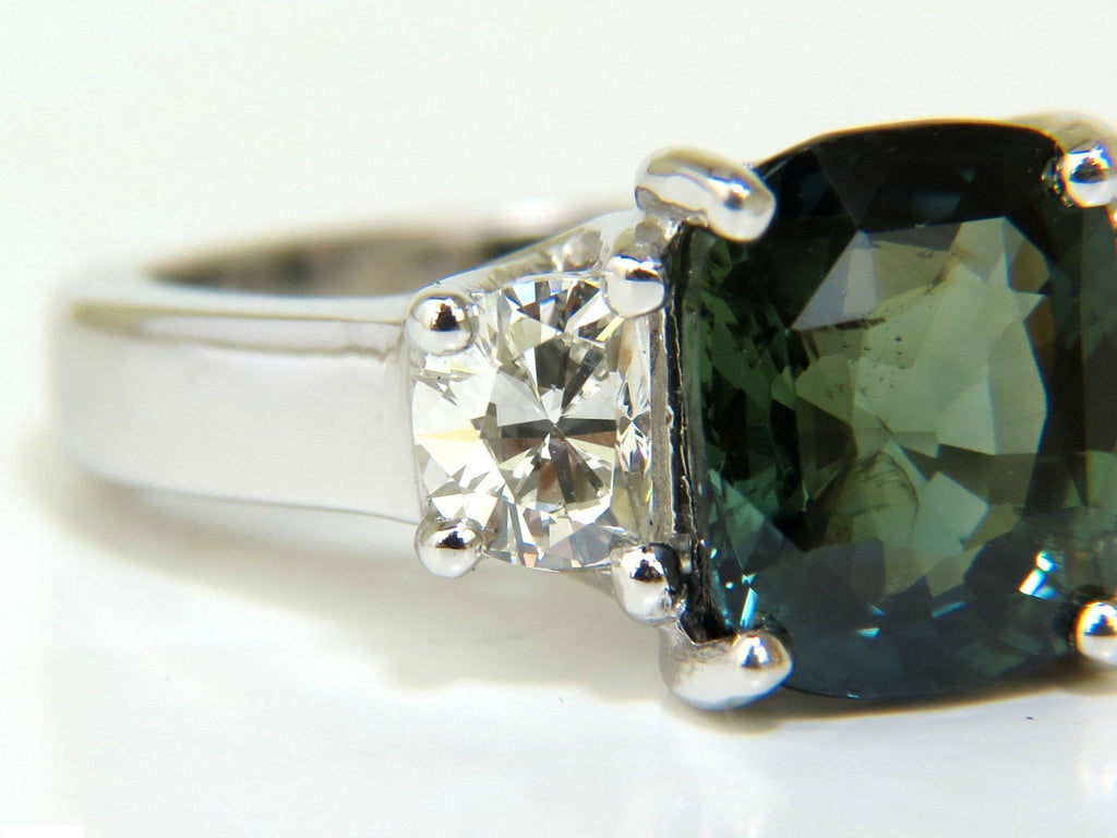 vintage gia cert with sapphire heat ring products certified white no natural engagement gold diamond and img