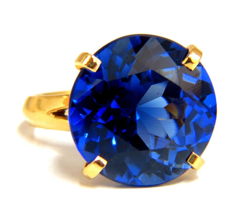 5.70ct Lab Sapphire diamonds ring kashmir blue 14kt