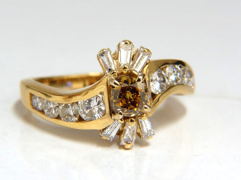1.62ct natural fancy color diamond ring 14kt.