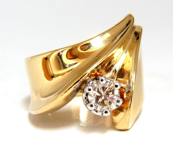 .53ct Natural Fancy Light Brown Diamond ring 14kt Bypass Deco