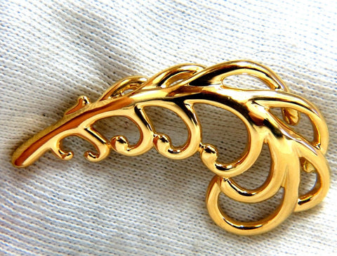 18Kt Gold Floral Brooch Pin