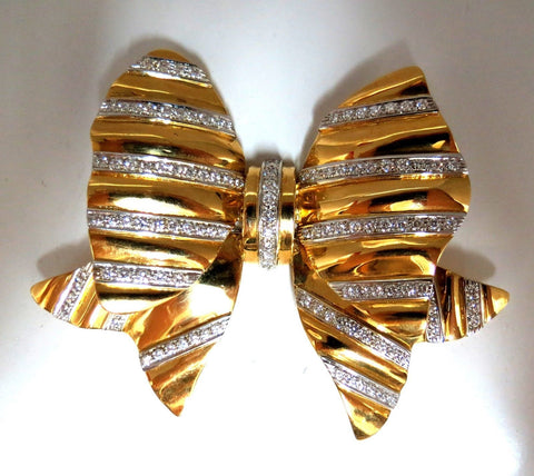 4.00ct Diamonds Large Sized Ribbon Pin 3D