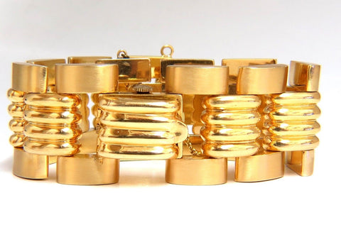 Estate LUVA 14kt gold watch ladies cuff bracelet