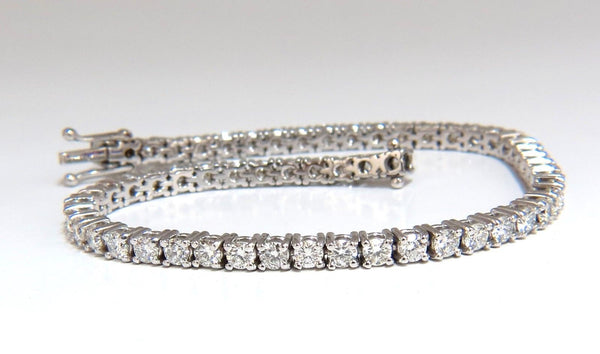 4.50CT NATURAL CLASSIC DIAMOND TENNIS BRACELET 18KT G/VS 7.50 INCH