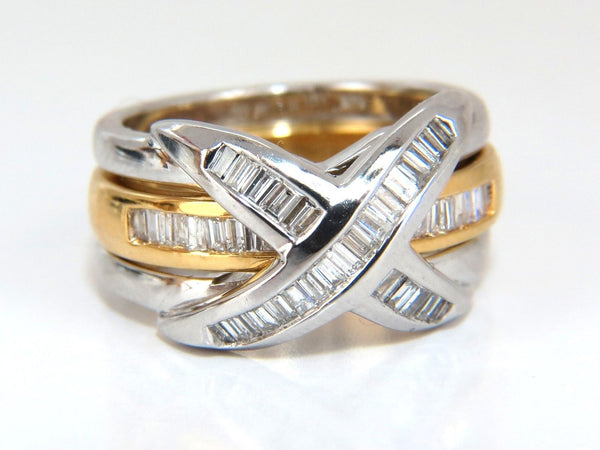 1.00ct Band & Insert Diamonds X Ring 14kt