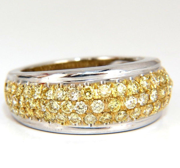 1.60ct Natural Fancy Yellow Diamonds Ring 18kt