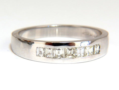 .60ct Natural Princess Diamond Band Ring 14kt channel row