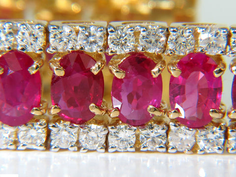 25.13CT NATURAL FINE RUBY DIAMONDS BRACELET CLASSIC MULTIROW