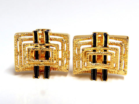 18kt Inlay Enamel Elite cufflinks