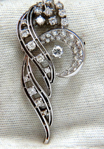 2.00ct Diamonds cluster brooch pendant pin Platinum Estate Cluster Cocktail