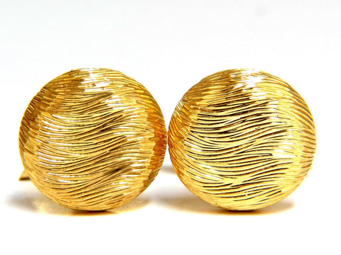 18kt 3D textured Gold cufflinks