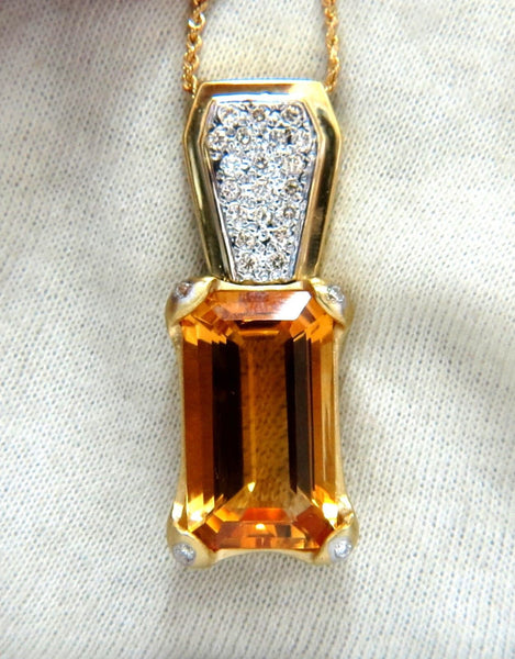 20.50ct natural citrine necklace 14kt