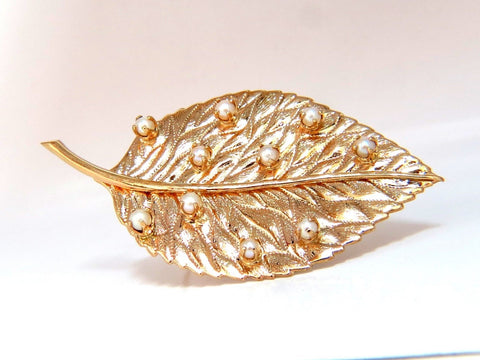 Leaf Pin 14kt Still life 3D Golden