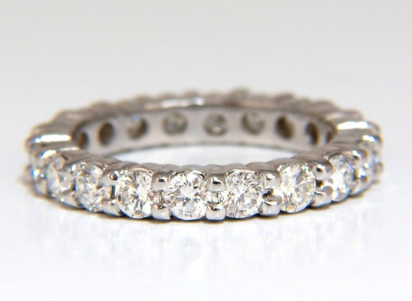 2.16ct Natural Round Diamonds Eternity Ring Sharing Prong