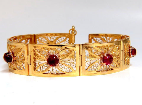 7.40ct Natural Spinel Open Gilt Vintage Bracelet 14 Karat