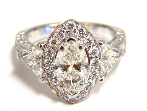 2.51ct Marquise Halo Diamond Ring 14 Karat