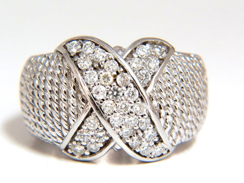 .50ct Diamonds X Ring 14 karat