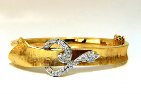 .40ct Natural Diamonds Bangle Bracelet Vintage 14 karat