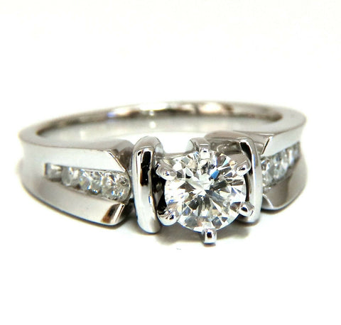 .87ct Natural Round Diamond Engagement Ring 14 Karat