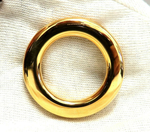 High Shine Circular Gold Pin 14 Karat