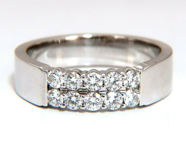 .60ct Natural Round Diamonds Double Row Common Prong Band 14 Karat