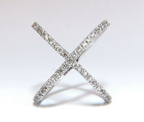 .55ct Natural Diamonds Crossing Rousing Wrap Lace Cross Ring 14 Karat