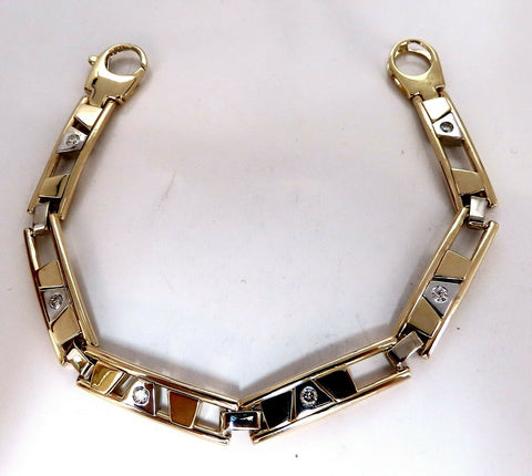 .50ct Diamonds Mens Kinetic Sliding Geometric Pattern Bracelet 14 Karat