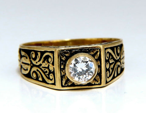.40ct Vintage Victorian Natural Diamond Ring 18 Karat Raised Crest