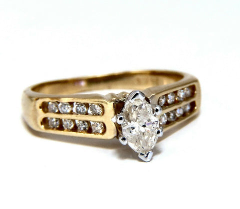 .50ct Marquise Natural Diamonds Cathedral Ring 14 Karat