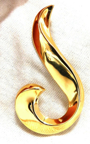 High Shine Musical Note Gold Pin 14 Karat
