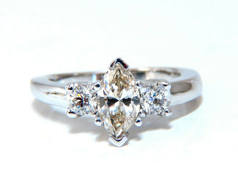 1.00ct Natural Marquise Diamond Ring 14 Karat Gold Classic Three