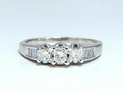 1.30ct Natural Princess Cut Diamonds Ring 14 Karat Classic Three Sz. 11.5