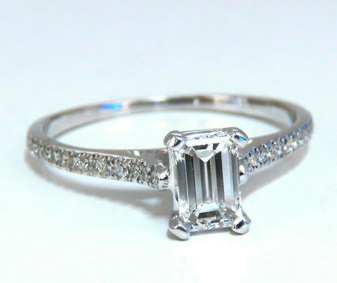 GIA Certified .54ct Emerald Cut diamond ring 18 Karat
